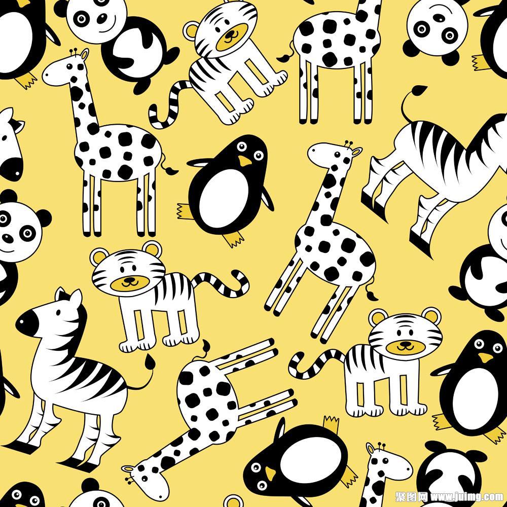 卡通动物背景图案