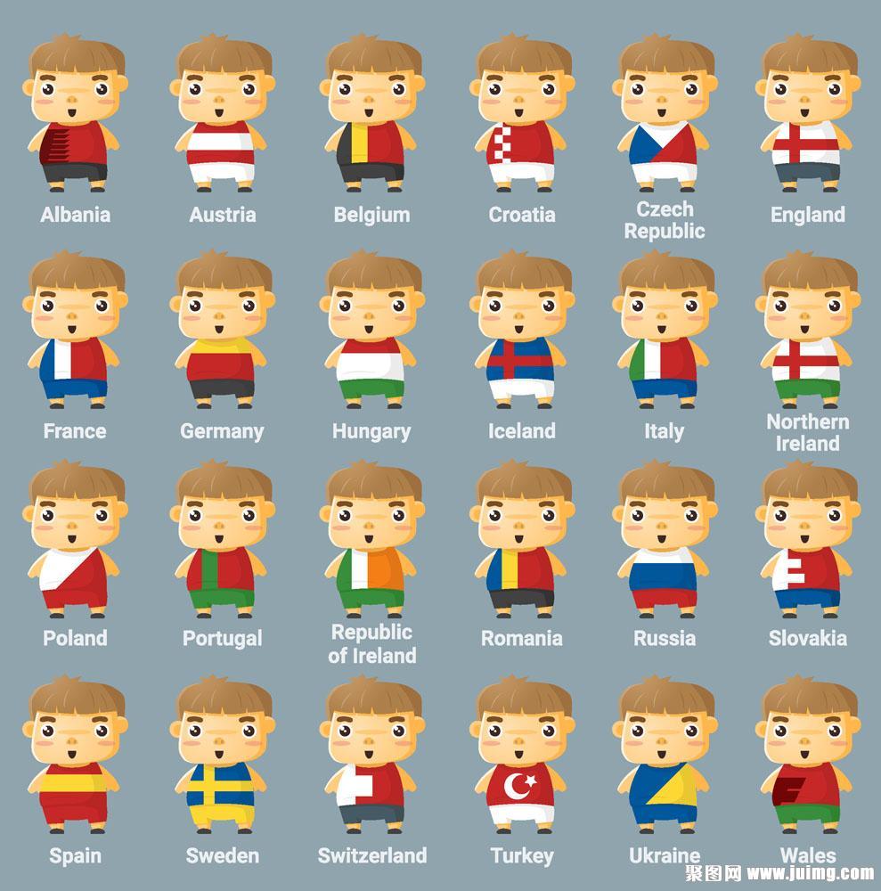 不同国家国旗衣服