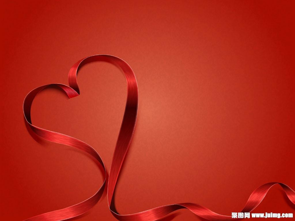 红丝带情人节背景