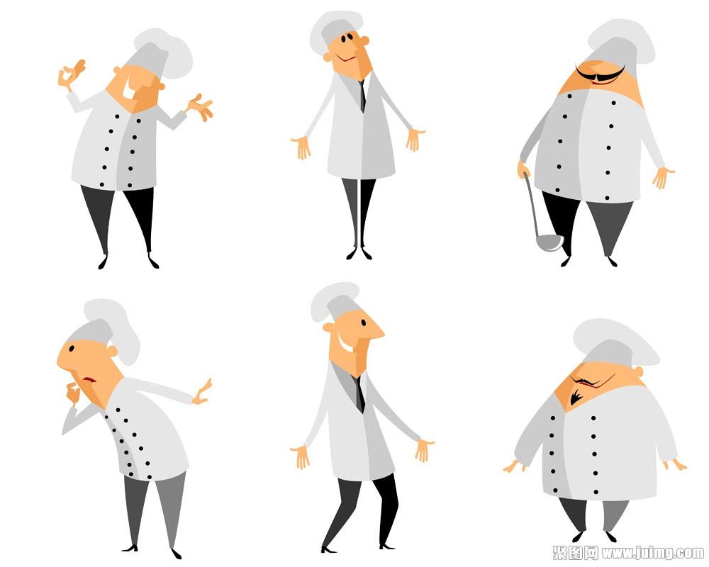 一群开心的厨师