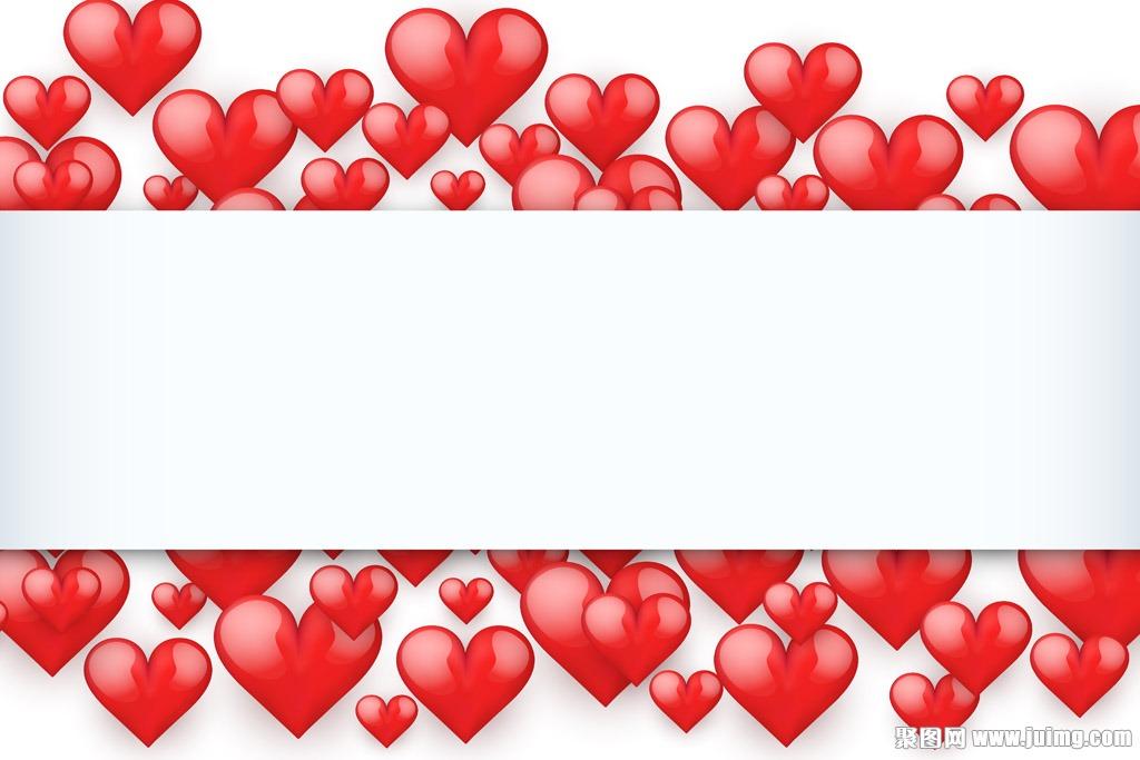 红色爱心情人节背景设计