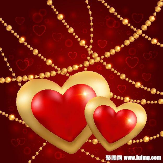 爱心情人节背景